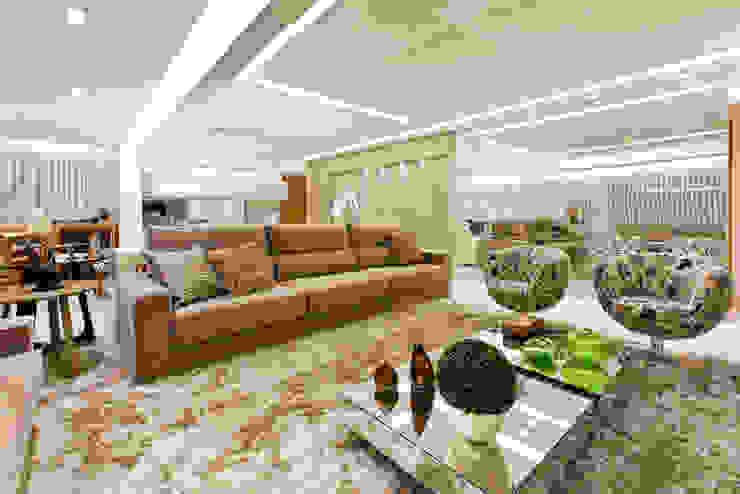 Sala de estar e jantar Salas de estar modernas por Home projetos Moderno