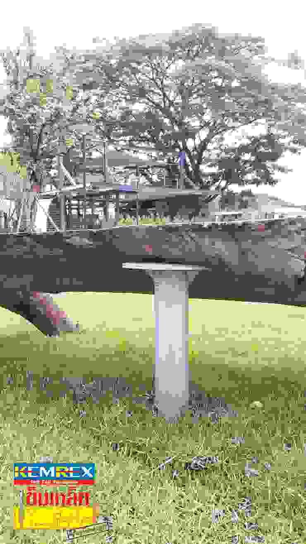 งานฐานราก ที่นั่งรากไม้ คุณสมนึก โดย บริษัทเข็มเหล็ก จำกัด
