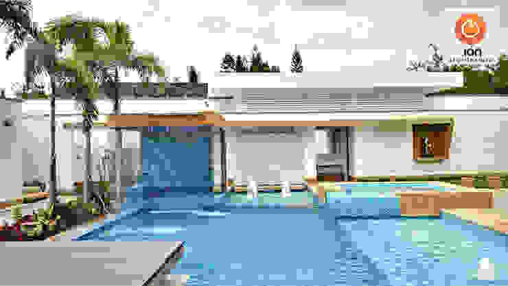 PISCINA CASA BLANCA,  Cali - Colombia: Piscinas de estilo  por ION arquitectura SAS, Minimalista