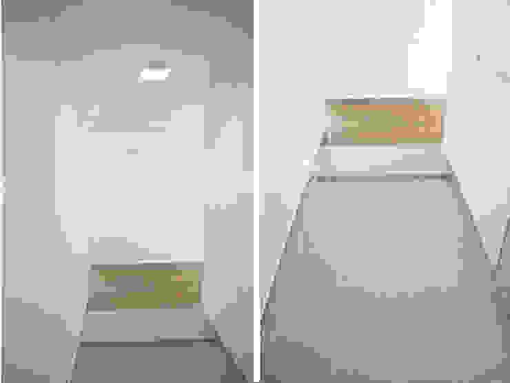 얀코인테리어 Scandinavian style corridor, hallway& stairs White