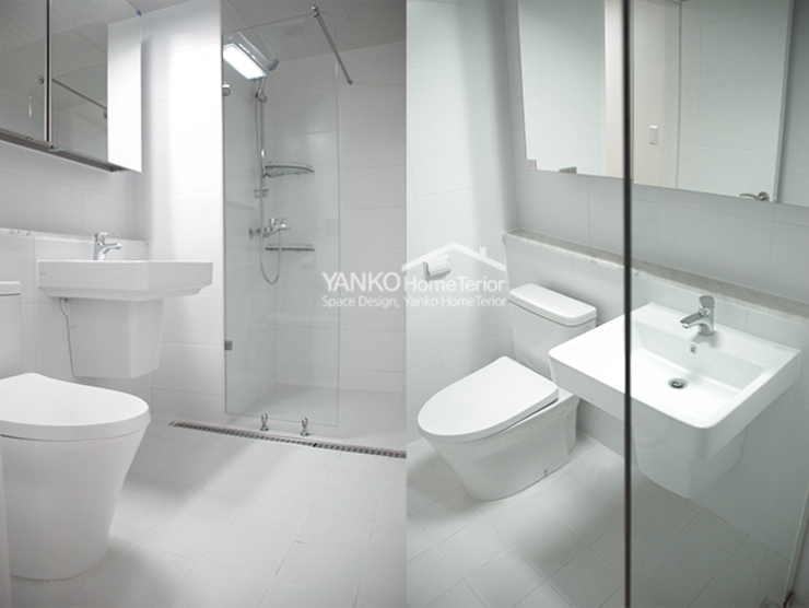 얀코인테리어 Scandinavian style bathroom White