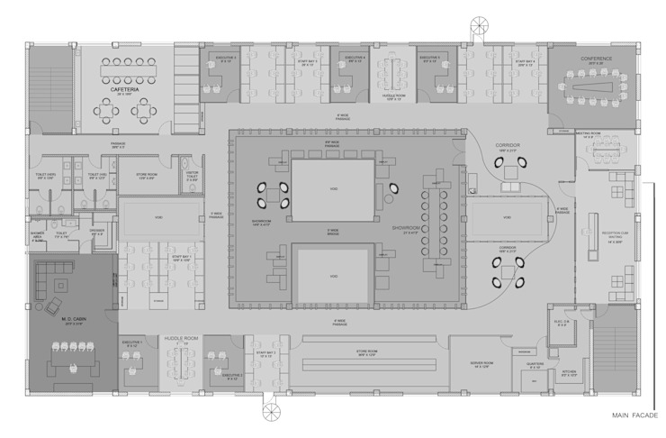 Render Plan by ICON PROJECTS INSPACE PVT.LTD Minimalist