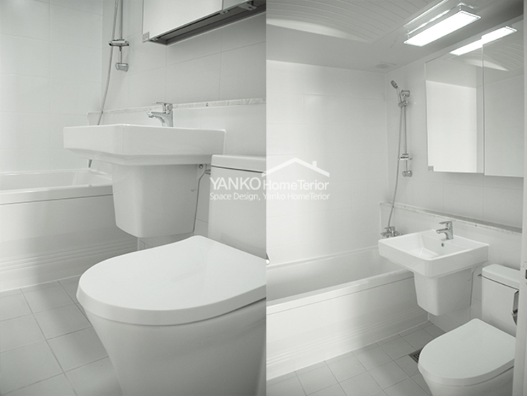 Scandinavian style bathroom by 얀코인테리어 Scandinavian