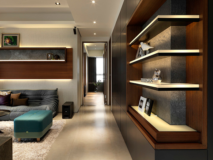 Sky Villa 熱帶式走廊,走廊和樓梯 根據 ACE 空間制作所 熱帶風