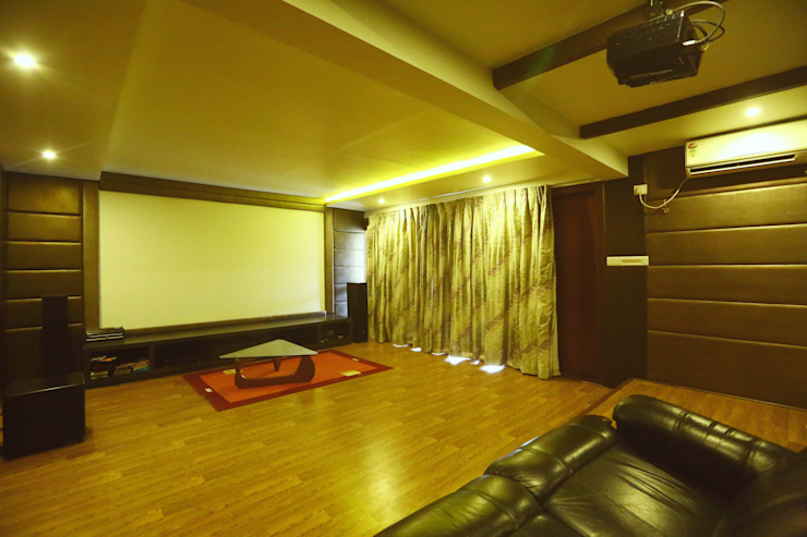 Home Theatre Area Modern media room by Space Trend Modern
