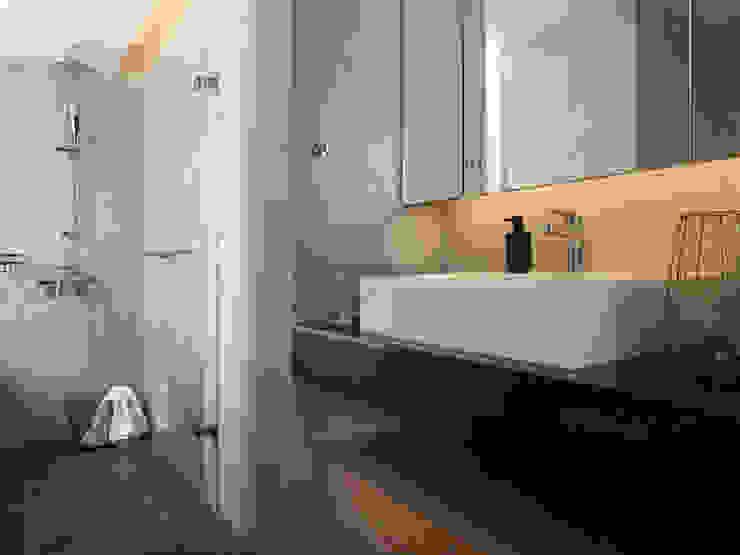 主臥浴室 現代浴室設計點子、靈感&圖片 根據 御見設計企業有限公司 現代風