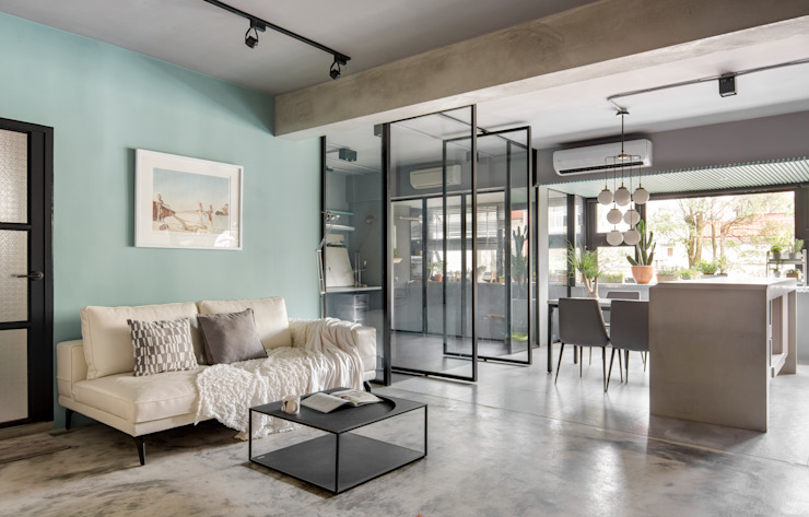 Living room by 磨設計, Minimalist