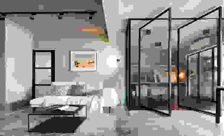 Salas de estar minimalistas por 磨設計 Minimalista