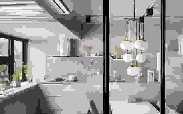 Cozinhas minimalistas por 磨設計 Minimalista
