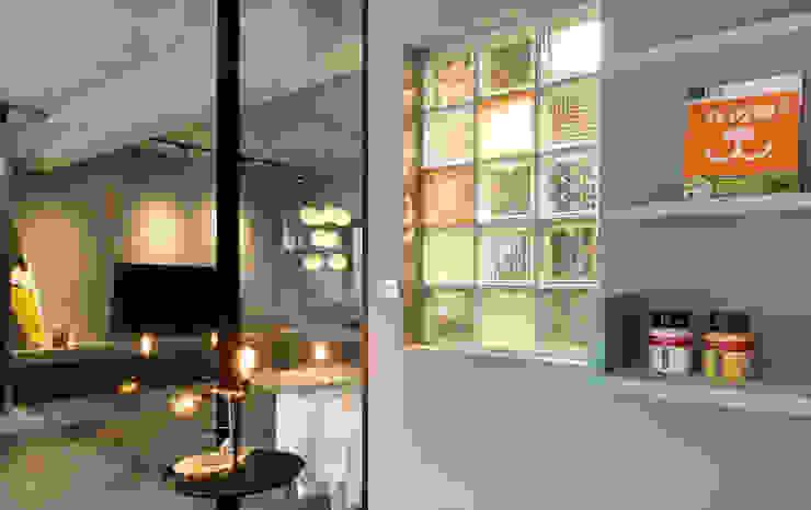 玻璃磚運用混搭 根據 磨設計 簡約風