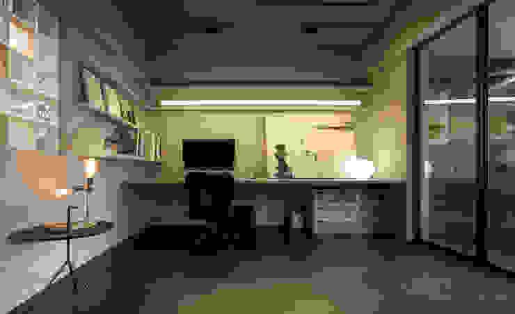 Escritórios minimalistas por 磨設計 Minimalista