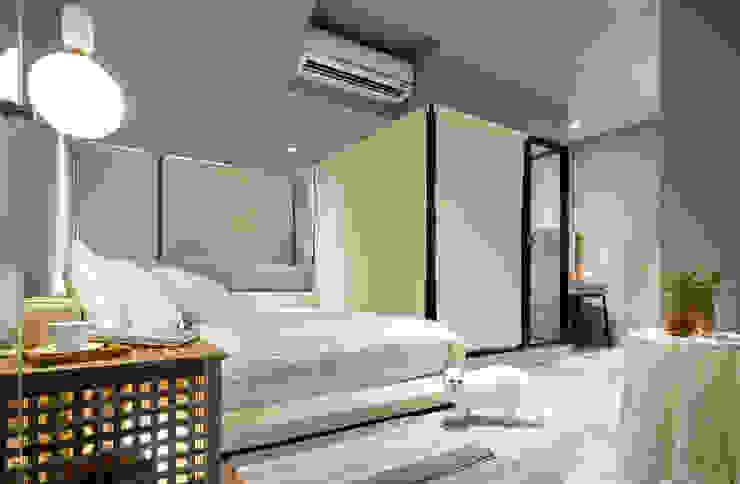 米色的溫柔主臥室 根據 磨設計 簡約風