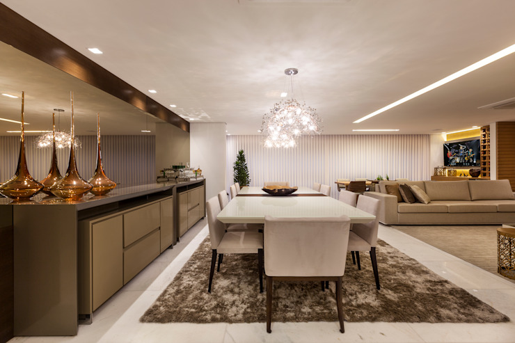 Modern dining room by Home projetos Modern