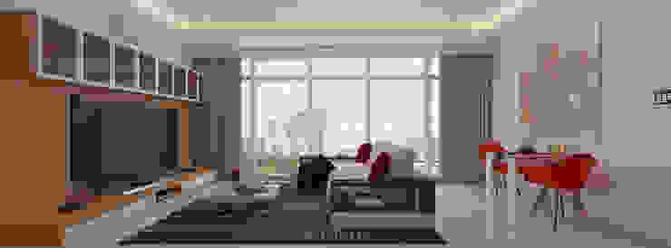 The Windsor Ruang Keluarga Gaya Skandinavia Oleh INTERIORES - Interior Consultant & Build Skandinavia