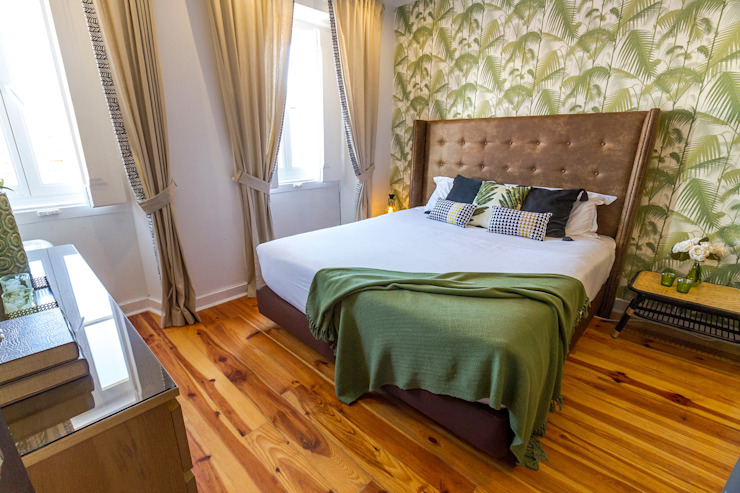 Dormitorios de estilo tropical de Sizz Design Tropical