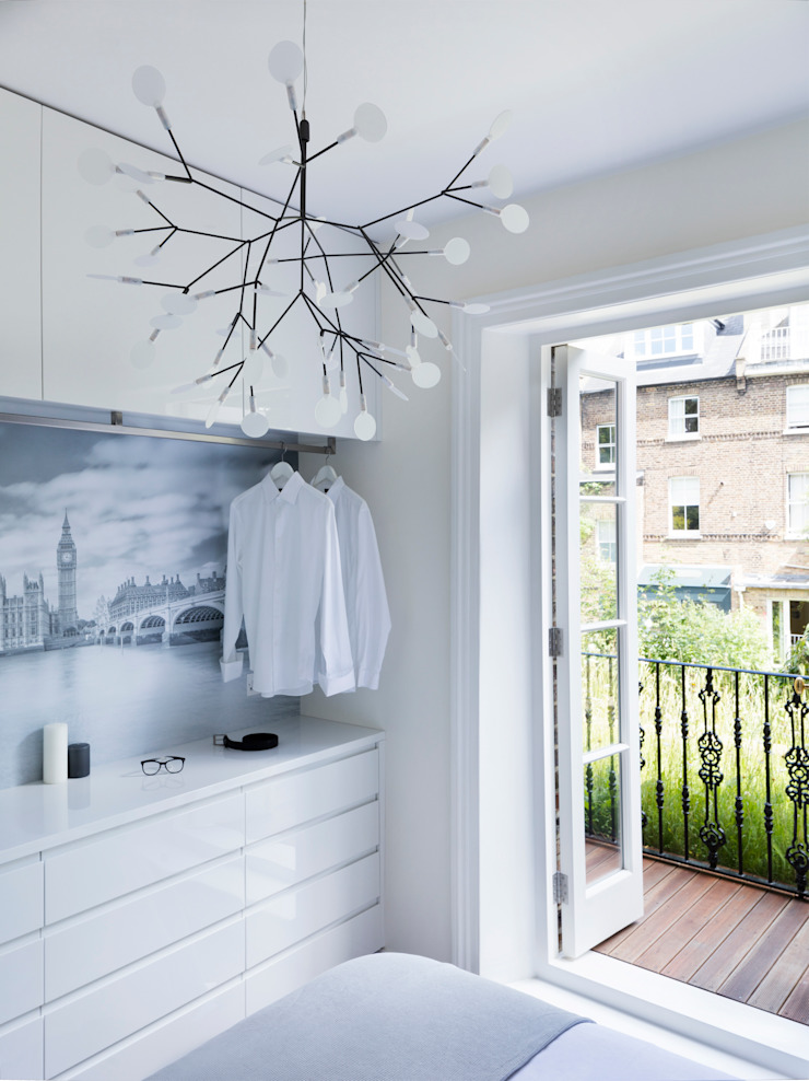 Master bedroom Habitaciones de estilo minimalista de Brosh Architects Minimalista