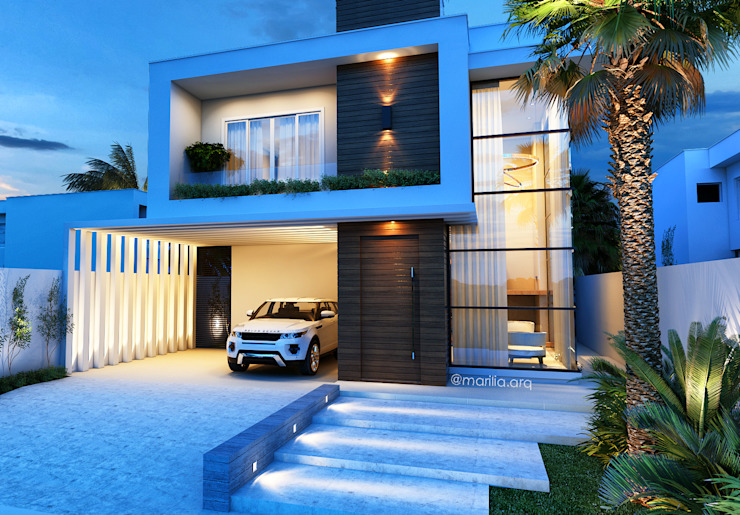 Casas de estilo  por Marilia Zimmermann Arquitetura e Interiores