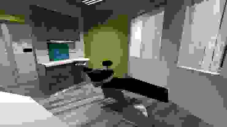 Consultorio Odontológico en EE.UU Clínicas y consultorios médicos de estilo moderno de Diseño de Locales Moderno