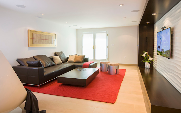 House in Potomac 2.0 Modern Living Room by FORMA Design Inc. Modern