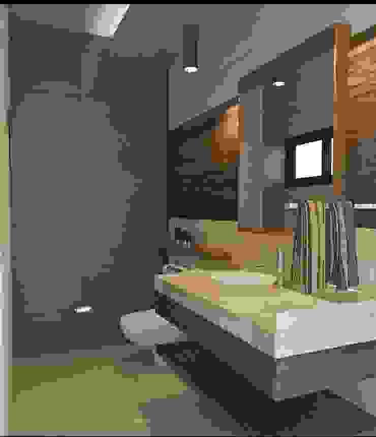 Baño principal Baños minimalistas de Crearqtiva Minimalista