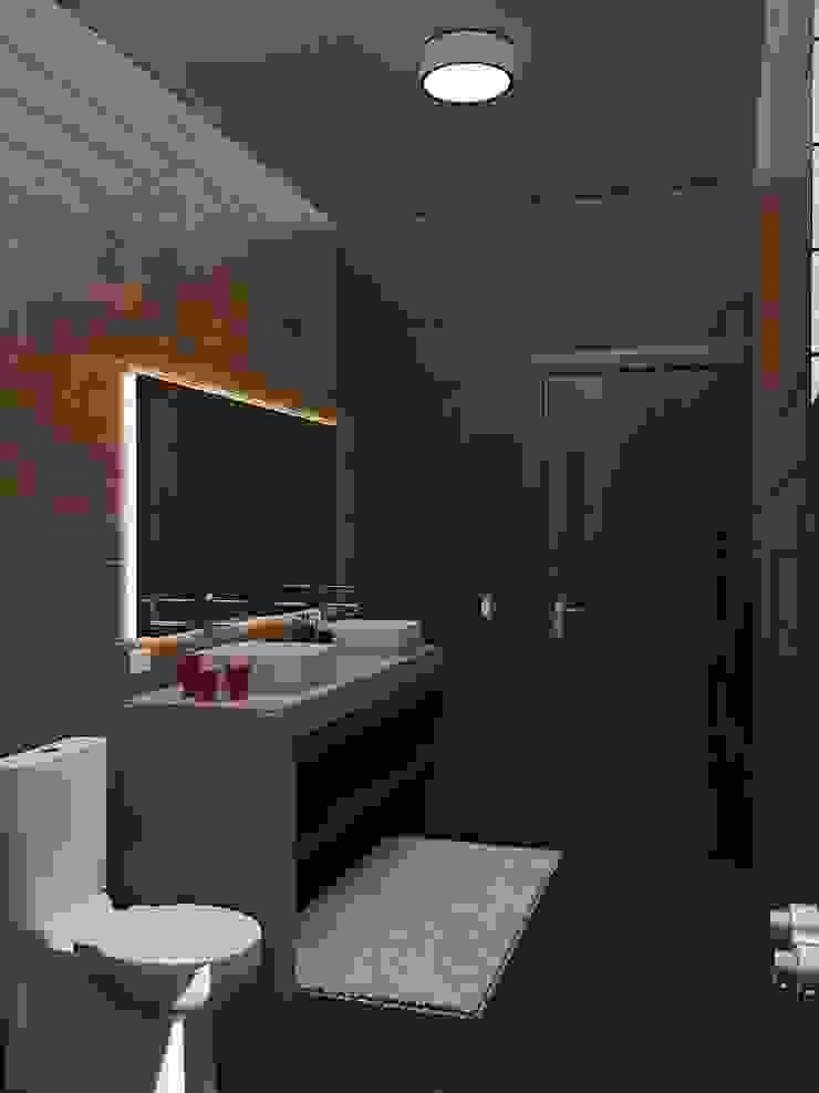 Interiores-wc Baños minimalistas de Crearqtiva Minimalista