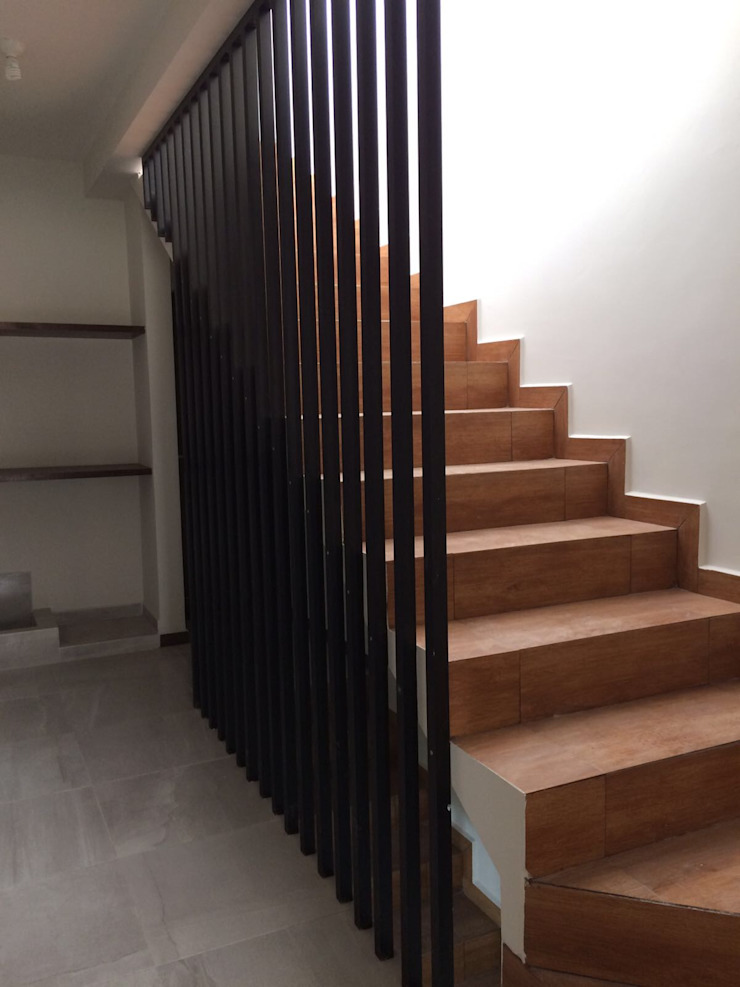 Villa Rica Pasillos, vestíbulos y escaleras minimalistas de Crearqtiva Minimalista