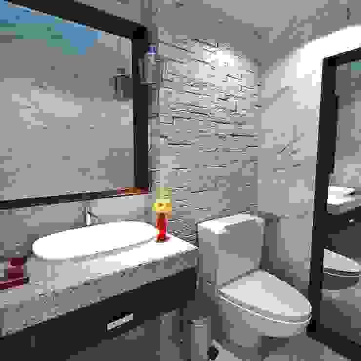 Salle de bains de style  par Crearqtiva,