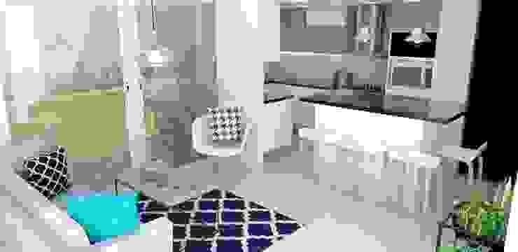 sala cocina : Cocinas de estilo  por Naromi  Design ,
