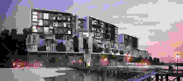 ออกแบบโรงแรม โดย บริษัท 999 สตาร์ จำกัด ผสมผสาน คอนกรีตเสริมแรง