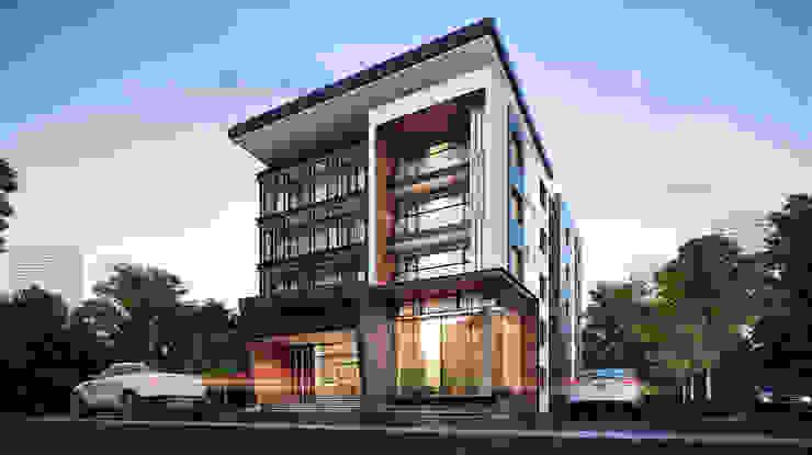 ออกแบบอพาร์ทเมนท์ โดย บริษัท 999 สตาร์ จำกัด โมเดิร์น คอนกรีตเสริมแรง