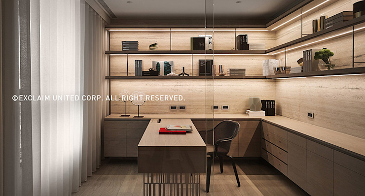 Modern Study Room and Home Office by 京璽國際 Modern