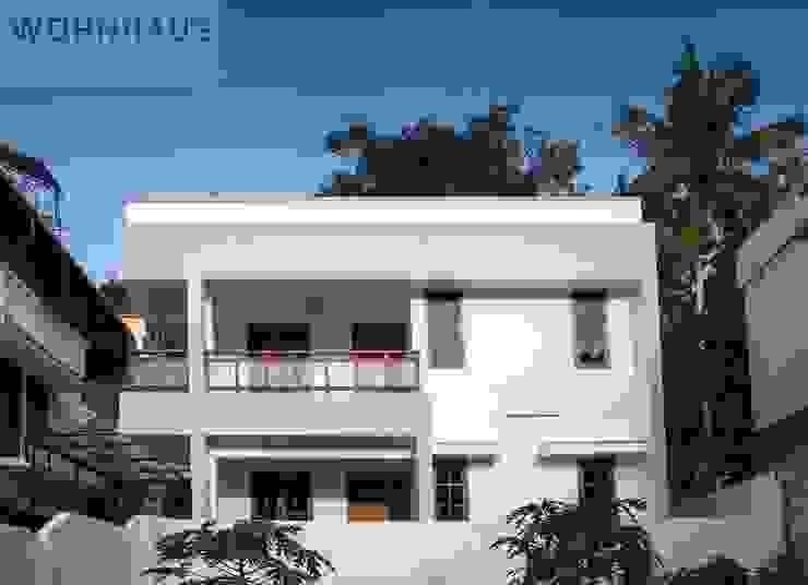 1400sqft House in Trivandrum Modern houses by Wohnhaus Developers Modern Bricks