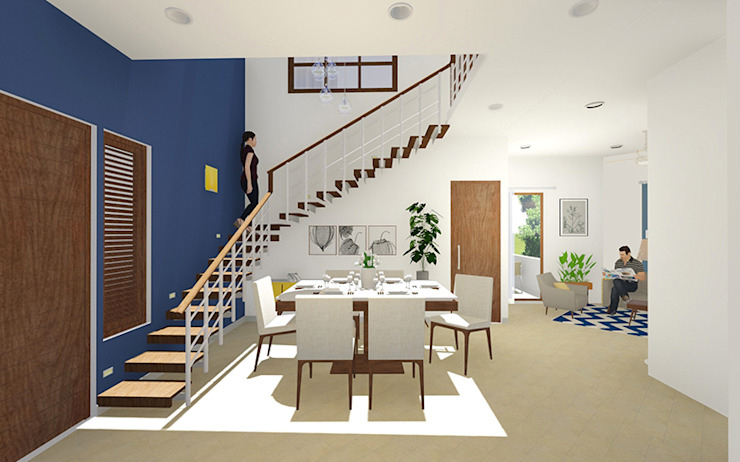 Internal 3D View of Residential Bungalow at Indore, Madhya Pradesh: modern  by SDMArchitects,Modern