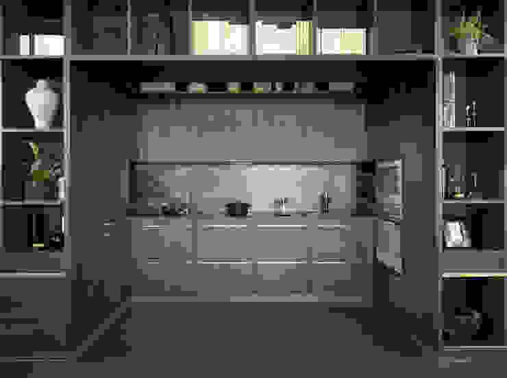 Die im Wohnregal versteckte Küche: modern  von Schmidt Küchen,Modern