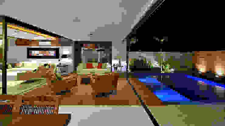 Modern Living Room by Chris Brasil Arquitetura e Interiores Modern