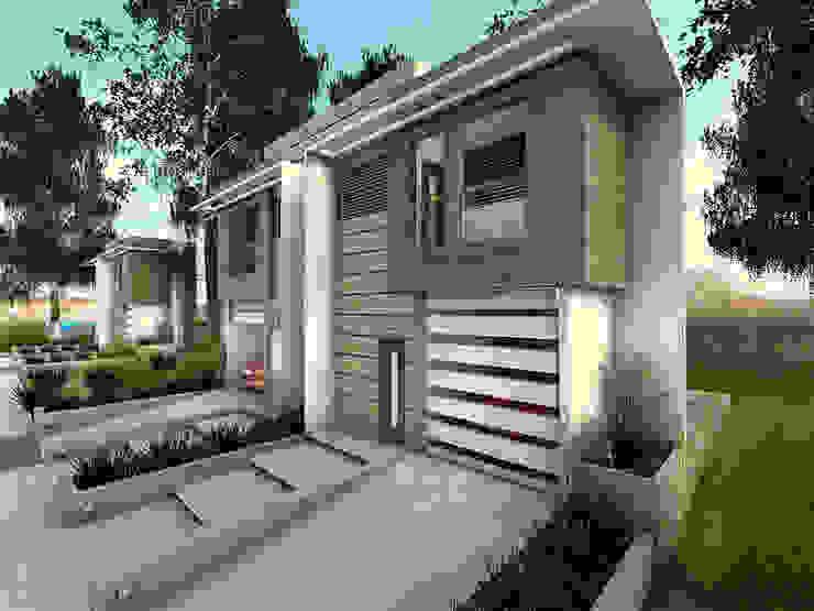 """Prototipo """"Vivienda Unifamiliar Pareada T. Townhouse"""". de Arq. Javier Chacín Minimalista Madera Acabado en madera"""