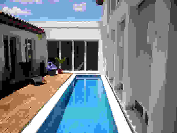 Luxury Sustainable Home | Santa Ana Costa Rica Aroma Italiano Eco Design Pool Glass Blue