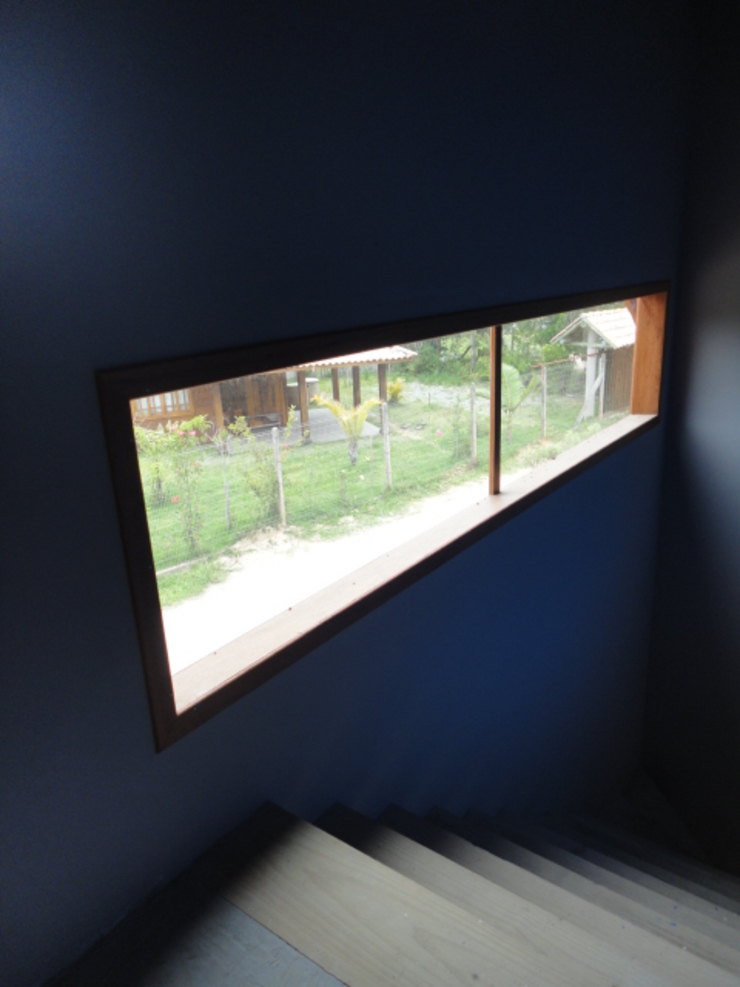 A+R arquitetura Single family home Glass Blue