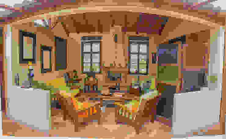CASA FAGUA Salas de estilo rural de ENSAMBLE de Arquitectura Integral Rural
