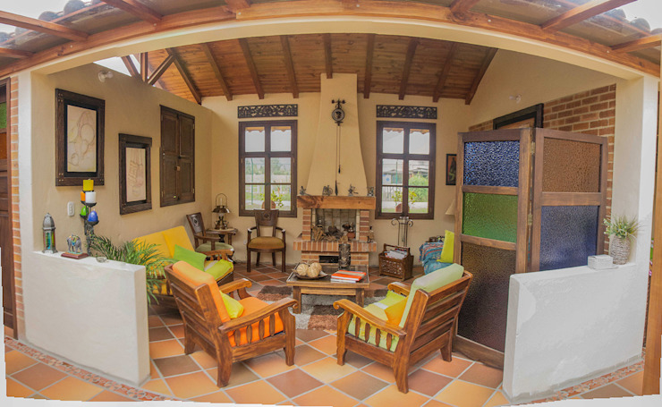 Salas de estilo rural de ENSAMBLE de Arquitectura Integral Rural