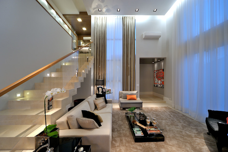 Modern living room by Chris Brasil Arquitetura e Interiores Modern