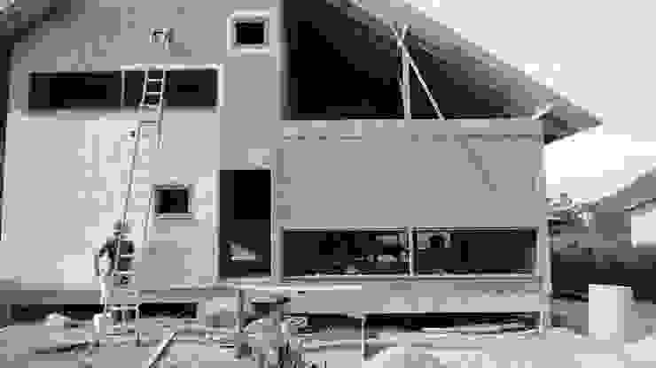 A+R arquitetura Rumah Gaya Rustic Batu Bata Beige