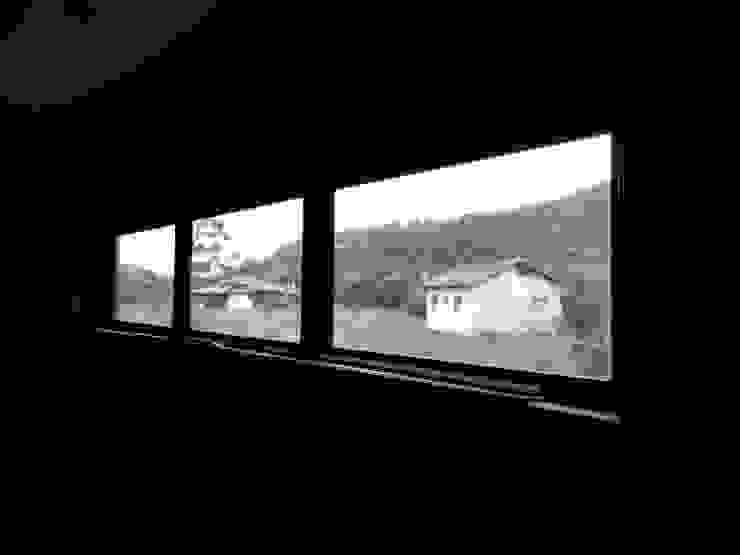 A+R arquitetura Koridor & Tangga Gaya Rustic Batu Bata Beige
