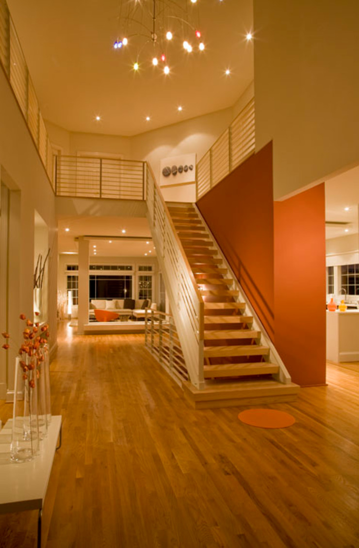 Lake Barcroft Residence Modern Corridor, Hallway and Staircase by FORMA Design Inc. Modern