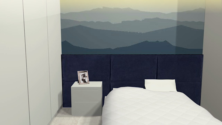Eclectic style bedroom by PRISCILLA BORGES ARQUITETURA E INTERIORES Eclectic