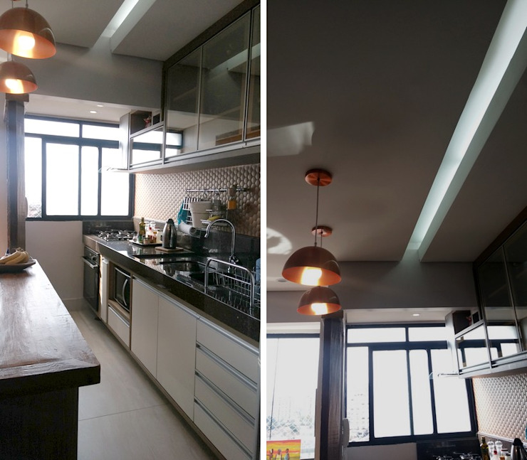 Eclectic style kitchen by PRISCILLA BORGES ARQUITETURA E INTERIORES Eclectic