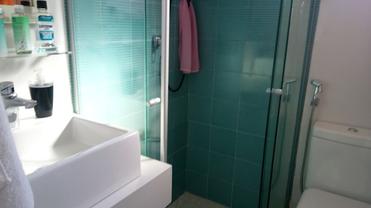 Eclectic style bathroom by PRISCILLA BORGES ARQUITETURA E INTERIORES Eclectic