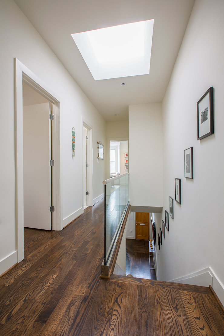 Shaw Rowhouse Modern Corridor, Hallway and Staircase by FORMA Design Inc. Modern