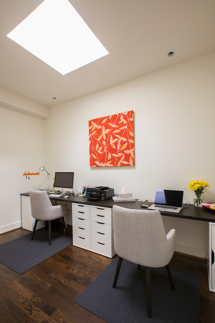 Shaw Rowhouse Modern Study Room and Home Office by FORMA Design Inc. Modern