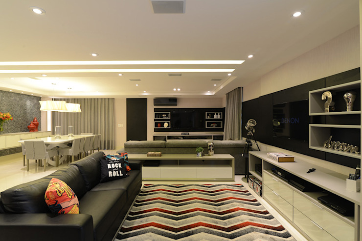Modern living room by Intetto Arquitetura e Interiores Modern